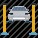 automobile barrier, car garage, car parking, parking lot, parking space icon