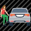 automobile bonnet, car engine heated, car heat controlling, heated car, stop automobile icon