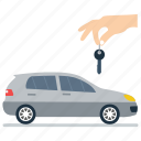 automobile owner, car agent, car dealer, car key, transport key icon