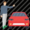 automobile owner, car agent, car key, car owner, transport key icon
