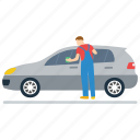 auto repairman, car cleaning, mechanic, service station, workshop worker