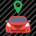 car location, car tracker, driving location, gps, vehicle navigation icon