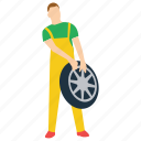 auto repairman, car mechanic, mechanic, tyre changing, workshop worker