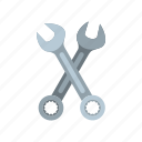 maintenance, repair, service, spanner, tool, work, wrenches icon