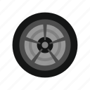 auto, car, rubber, sport, tire, transport, wheel icon