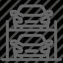 car, hydraulic, park, parking