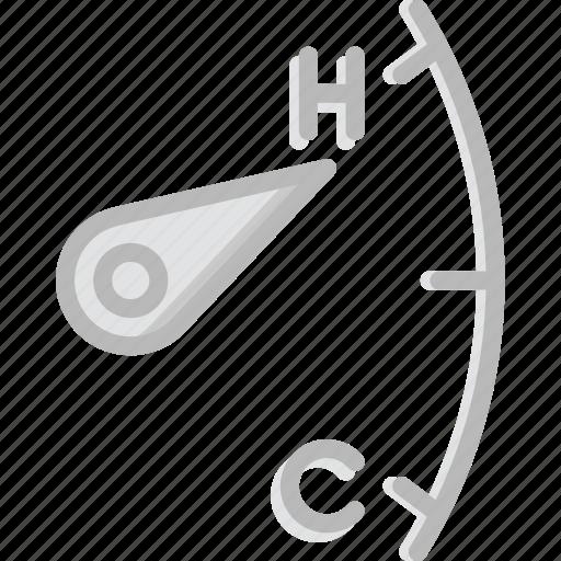 car, heat, indicator, part, vehicle icon