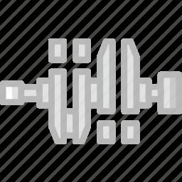 car, crankshaft, part, vehicle icon