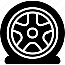 car, flat, part, tire, vehicle icon