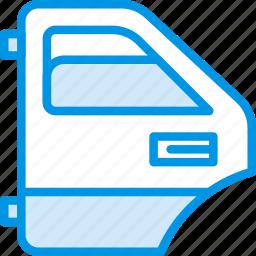 car, door, part, rear, vehicle icon
