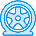 car, flat, part, tire, vehicle icon