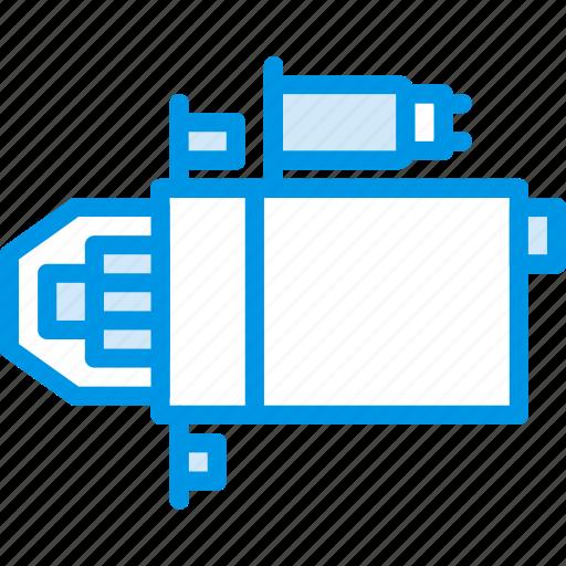 car, part, starter, vehicle icon