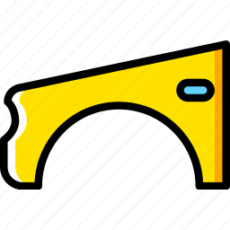 car, part, vehicle, wing icon
