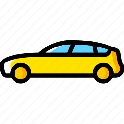 car, hatchback, part, vehicle icon