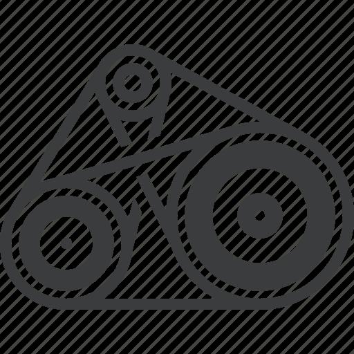 automobile, belt, car, engine, gear, part, vehicle icon