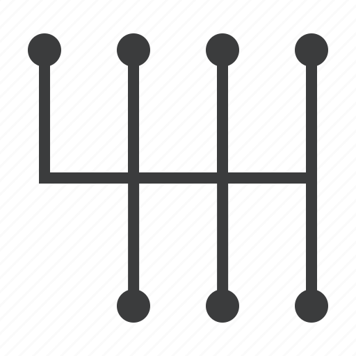 car, gear, manual, pattern, shift, transmission icon