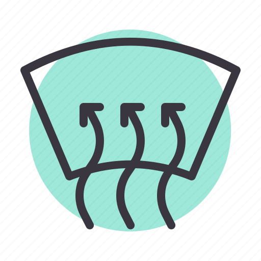 Air, car, circulate, circulation, heat, windshield icon - Download on Iconfinder