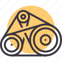 automobile, belt, car, engine, gear, part, vehicle icon