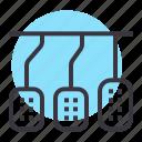 accelerator, brake, car, clutch, controls, drive, pedal icon