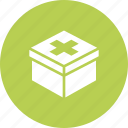 box, emergency, medical, kit, health, aid, first icon