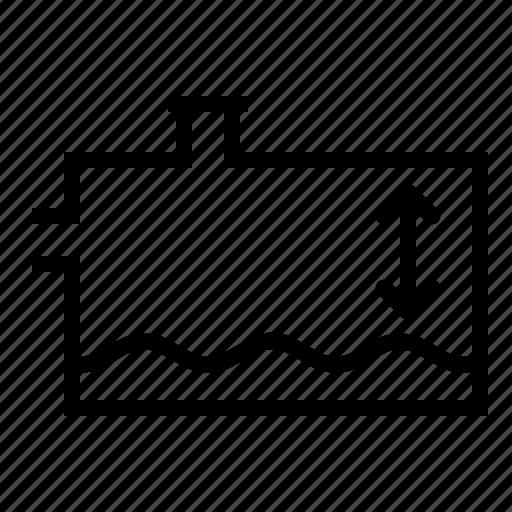 coolant, indicator, level, liquid, low, oil, radiator icon