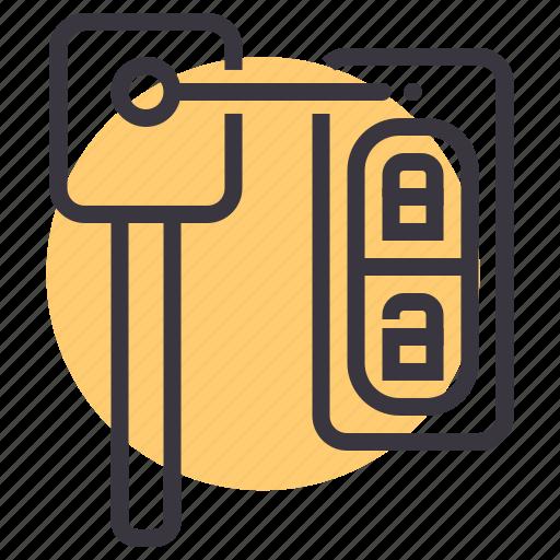 car, key, keys, lock, start icon