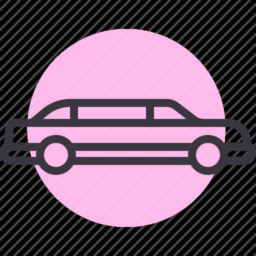 car, limo, limousine, luxury, saloon, sedan, travel icon