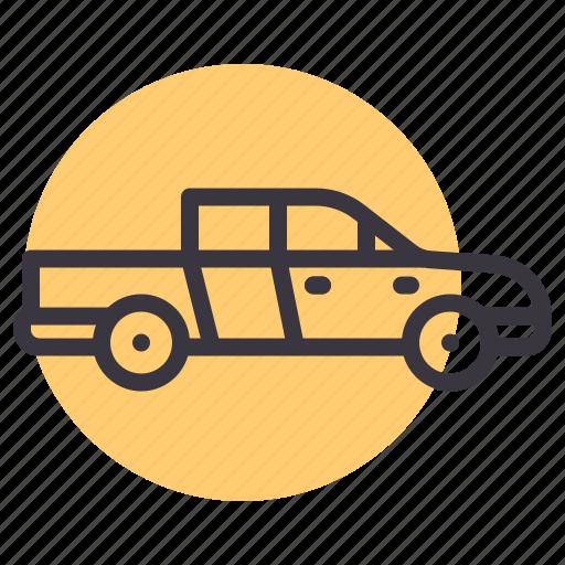 auto, car, pickup, transport, travel, truck, van icon