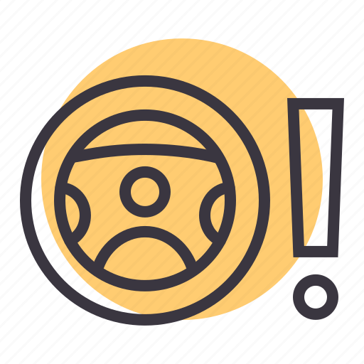 alert, car, caution, light, power, steering, warning icon