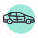 automobile, car, sedan, transport, trave, vehicle icon