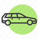 car, muv, station, transport, van, vehicle, wagon icon