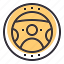 car, drive, power, steering, vehicle, wheel icon