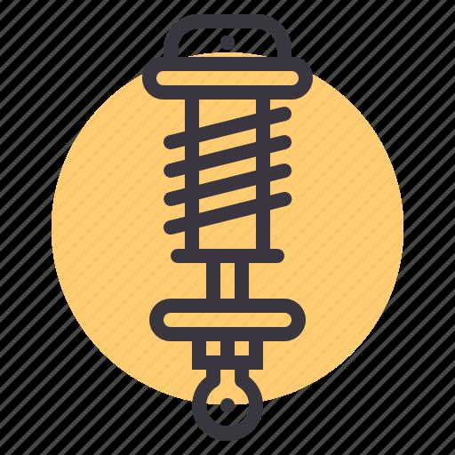 car, coil, damping, part, preload, spring, suspension icon