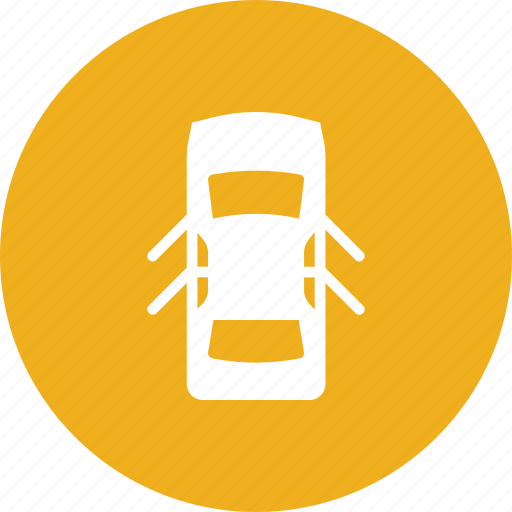 automobile, car, door, doors, open, top, view icon