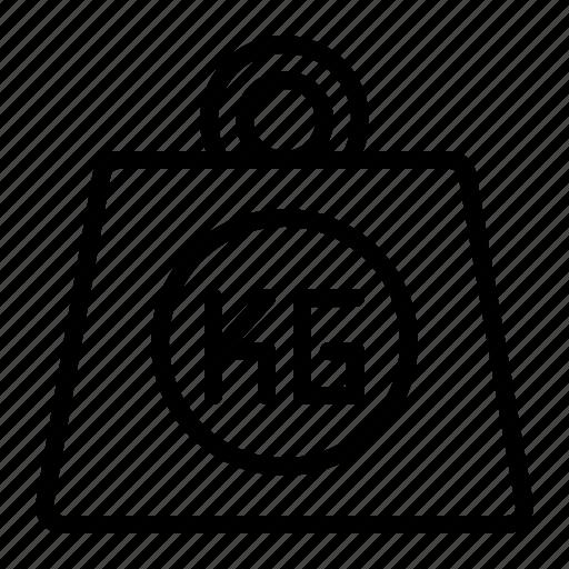 capacity, kerb, kg, lab, pound, weight icon