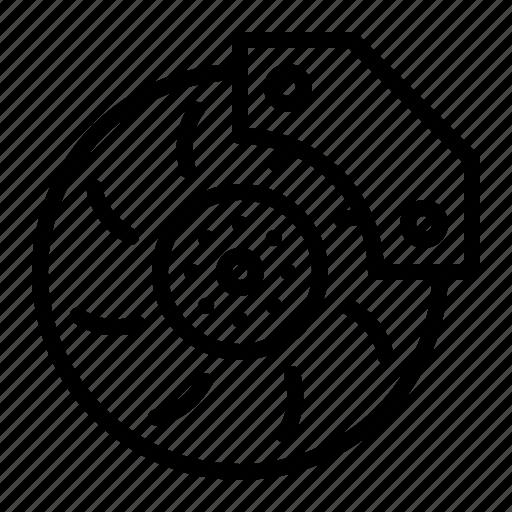 Automobile, brake, car, disc, parts, repair, service icon - Download on Iconfinder