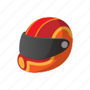 bike, cartoon, helmet, illustration, race, racer, racing icon