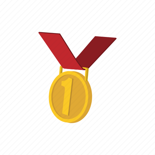 award, best, cartoon, first, gold, medal, ribbon icon