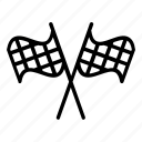 checkered, checkers, end point, racing flag, winning flag icon