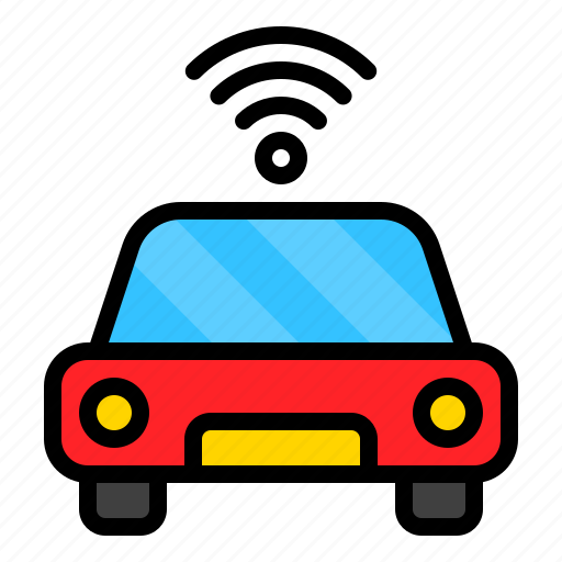 car, internet, signal, vehicle, wifi icon