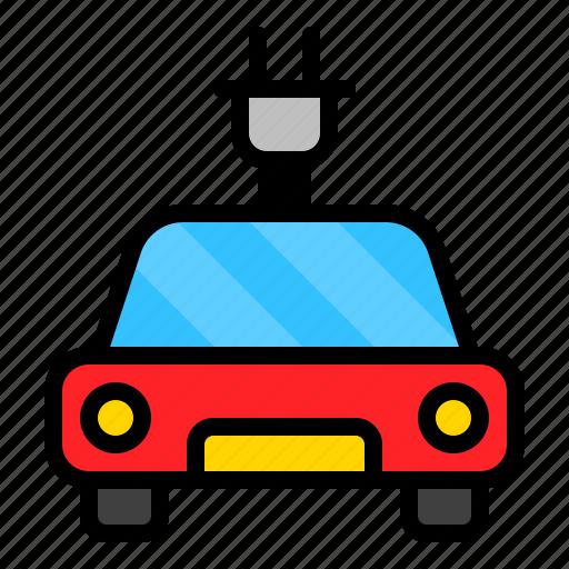 car, electric, plug, vehicle icon