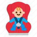 baby, belt, car, safety, seat icon