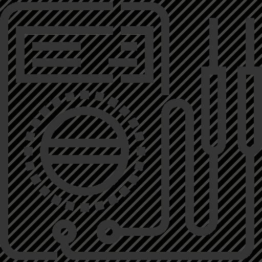 automobile, car, electric tester, electronics, repair, service icon