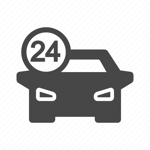 car, repair, service, time, tool icon