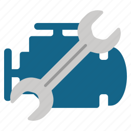 engine, hardware, motor, repair, service, tools, wrench icon