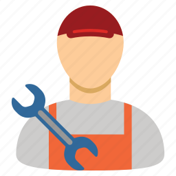 mechanic, service, service man, tools, work, worker, wrench icon