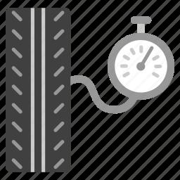 air pressure, control, manometer, pump, retreads, tire, wheel icon