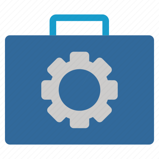 case, gear, maintenance, repair, service, toolbox, tools icon