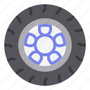 car, rim, road, tire, wheel icon