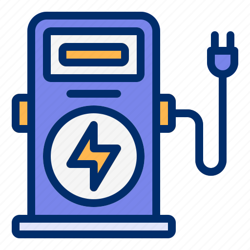 Car, charging, electric, power, station icon